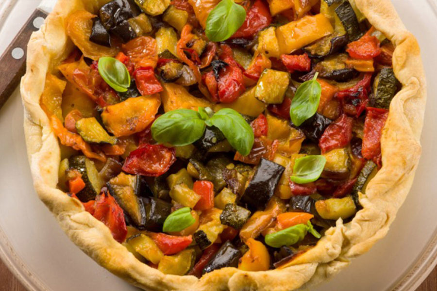 Torta Salata con Zucchine, Melanzane e  Peperoni